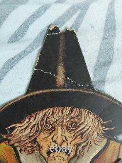 1920's Rare Vintage Halloween Beistle Horrible Articulated Witch