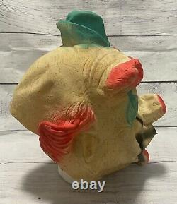 1950's Bayshore Clown Pig Vintage Latex Mask Super Rare