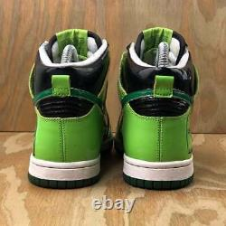 2007 Nike Dunk High GS Tombstone Neon Green Vintage Rare Halloween Size 4Y