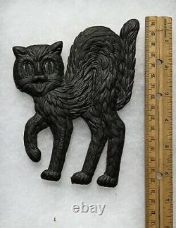 6.5 Vintage German Halloween Die Cut Scared Cat. Rare
