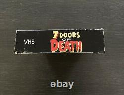 7 Doors of Death Vhs 1986 Cult Horror Thriller Video Vintage Rare Gore Halloween
