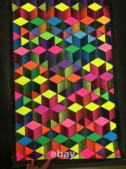 Cubes Vintage Blacklight Poster Tripp's Rare