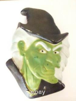 Don Featherstone Blow Mold Halloween, Vintage Witches Head. Rare Hard to fine