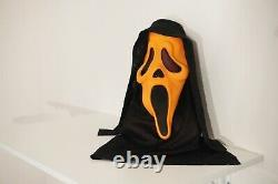 EASTER UNLIMITED Orange Rare VTG Scream Stamped Ghostface Mask Fun World #9207