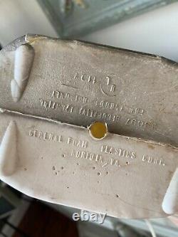General Foam vintage skeleton table top blow mold owl tombstone rare
