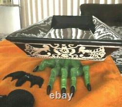 Grandin Road Spooky Hands Ceramic Serving Tray Halloween Very Rare Vintage