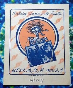 Grateful Dead 1984 HALLOWEEN Poster Berkeley Community Theatre BCT Rare Vintage