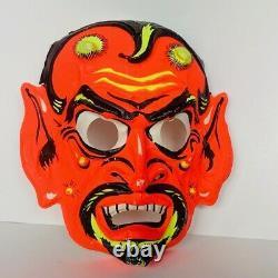 Halloween Costume Mask Vtg Ben Cooper decoration devil satan RARE lucifer demon