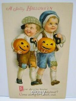 Halloween Postcard Ellen Clapsaddle Wolf Series 31 Unused Original Vintage Rare