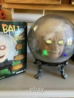 Halloween Vintage Gemmy Large Spirit Ball Dr. Shivers Sound Motion RARE