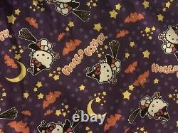 Hello Kitty Sanrio Halloween Witch Yard 100% Cotton Fabric RARE OOP Vintage NEW
