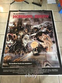 Huge Horror Poster Vintage Halloween Boris Karloff Bela Lugosi Original Rare