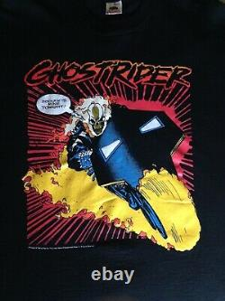 Marvel Comics 1991 GHOST RIDER Vintage Shirt Danny Ketch ZODIAK Rare Original