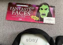 NEW Vtg FANTASTIC FACES Mask Fun World Glow In The Dark RARE HTF