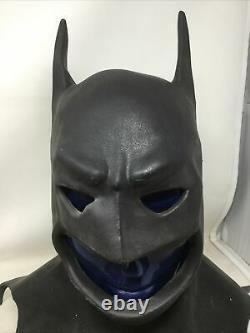Official 1989 Heavy Duty Rubber Batman Halloween Mask Rare DC Comics Vintage
