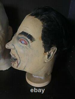 RARE 1970s Vintage Don Post Studios Christopher Lee Dracula mask