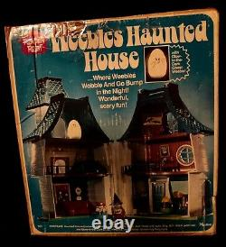 RARE 1976 Vintage Weebles Haunted House COMPLETE withbox witch ghost Halloween EUC