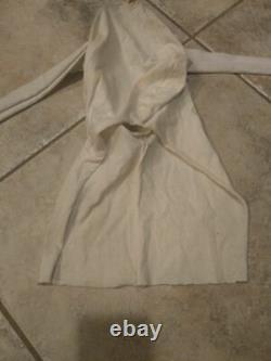RARE! ALL WHITE Scream Ghostface Mask Shroud Halloween Fun World Div. Vintage