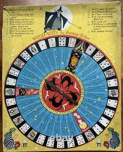 RARE Antique Witzi Wits Fortune Teller Game Vintage Halloween Collectible