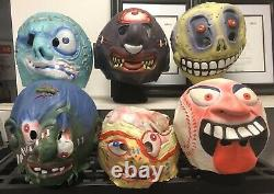 RARE Madballs Rubber Vinyl 6 Mask Collection Halloween Horn Head 1986 Vintage 86