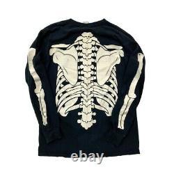 RARE VTG 1997 Misfits Skeleton 3MM Long Sleeve Band T Glow in Dark Large USA AOP