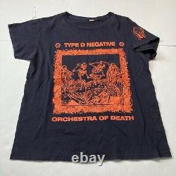 RARE Vintage 1990s Orange Halloween Type O Negative Orchestra of Death Band