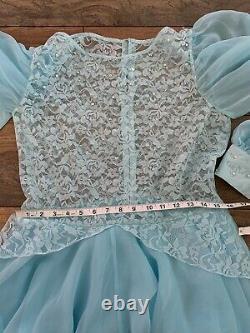 RARE Vintage CINDERELLA Fairy Halloween Adult Costume Ball Dress Size L / XL