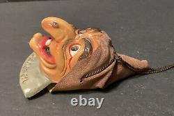 RARE Vintage German Figural Halloween Decoration Snaggle Tooth Witch SchlobHexen