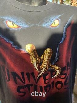 RARE Vintage HALLOWEEN HORROR NIGHTS VI 1996 Universal Studios Shirt in size XXL