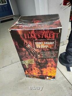 RARE W BOX WORKS Life Size Freddy Krueger Animatronic Horror Gemmy Sears vintage