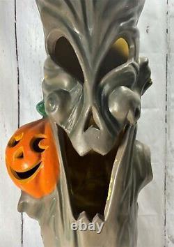 Rare 1998 Vintage 35 Blow Mold Spooky Halloween Tree Stomp Light J-o-l Foam