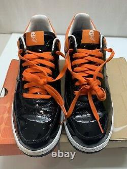 Rare 2005 Nike Air Force 1 Halloween Orange Black Vintage Size 10.5 Premium Af1