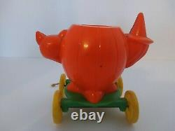 Rare Rosbro vintage halloween plastic candy container