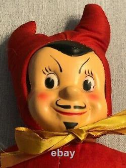 Rare Vintage 1950s Halloween Devil Doll Seldom Seen Item from the Past L@@@K