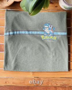 Rare Vintage 1999 Nintendo Pokemon Adult Size XL Shirt Blastoise Anime Game