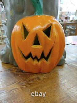 Rare Vintage 35 Spooky Tree Pumpkin Light Blow Mold Halloween Plastic Foam