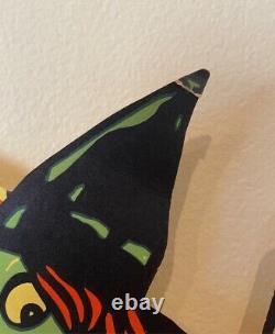 Rare Vintage Halloween Dennison Witch Diecut Eats