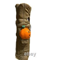 Rare Vintage Spooky Tree Pumpkin Light Blow Mold Halloween Plastic Foam