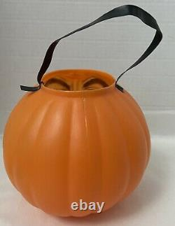 Rare Vintage TOPSTONE Rubber Co Scary Blowmold Jack O Lantern 7 Figural Face