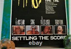 Rare Vintage WCW Halloween Havoc 89 SETTLING THE SCORE, Flair, Sting, Lugar