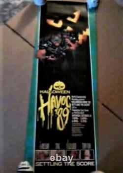 Rare Vintage WCW Halloween Havoc 89' SETTLING THE SCORE, Flair, Sting, Luger, F