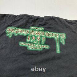 Rare Vtg 90s 1997 Halloween Horror Nights VII T Shirt Mens XL Universal Studios