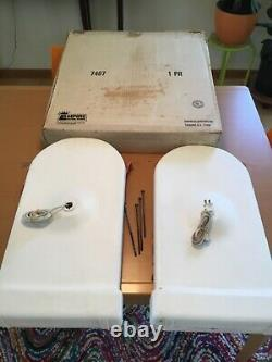 Rare vintage 23 high Empire TOMBSTONE lights complete set WITH original BOX