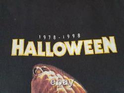 Rare vintage horror movie nightmare elm street friday 13th halloween t shirt XL