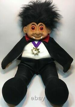 Russ Troll Doll Count Dracula RARE Vampire Halloween JUMBO 27 X-LARGE Toy