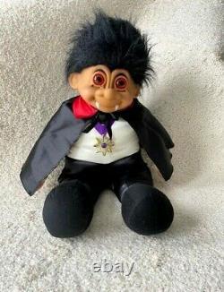 Russ Troll Dracula Vampire Doll 27 XL Halloween Collectible Rare Vintage