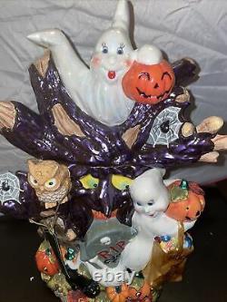 SUPER RARE! Christopher Radko Hoot N Howl Halloween Cookie Jar Retired 2002