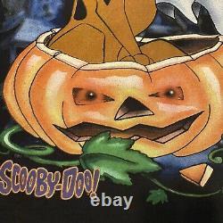 Scooby-Doo Halloween Pumpkin T-shirt Vintage Mens Sz XL Hanna-Barbera 90s Rare