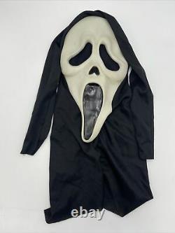 Scream Ghostface Mask Fun World Div Rare Glow In Dark Vintage HTF with Robe & Belt