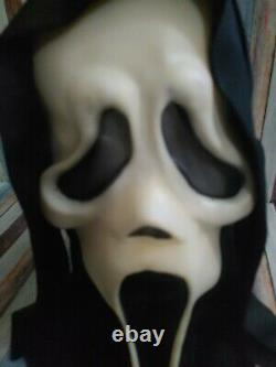 Scream Ghostface Mask Fun World Div Rare Glow Vintage